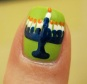 Menorah Nail art